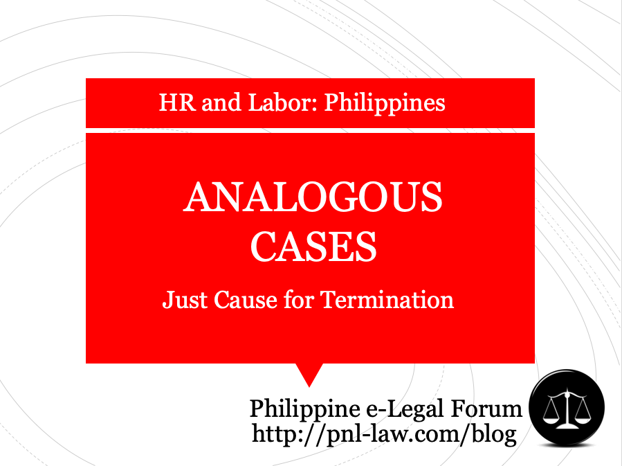 Analogous Causes for Termination in the Philippines