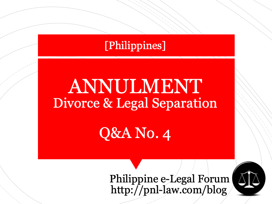 Annulment, Divorce and Legal Separation Q&A 4