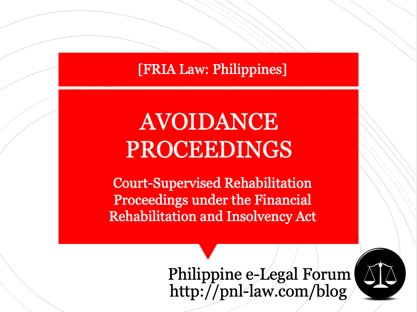 Avoidance Proceedings in Court-Supervised Rehabilitation Proceedings under the Financial Rehabilitation and Insolvency Act
