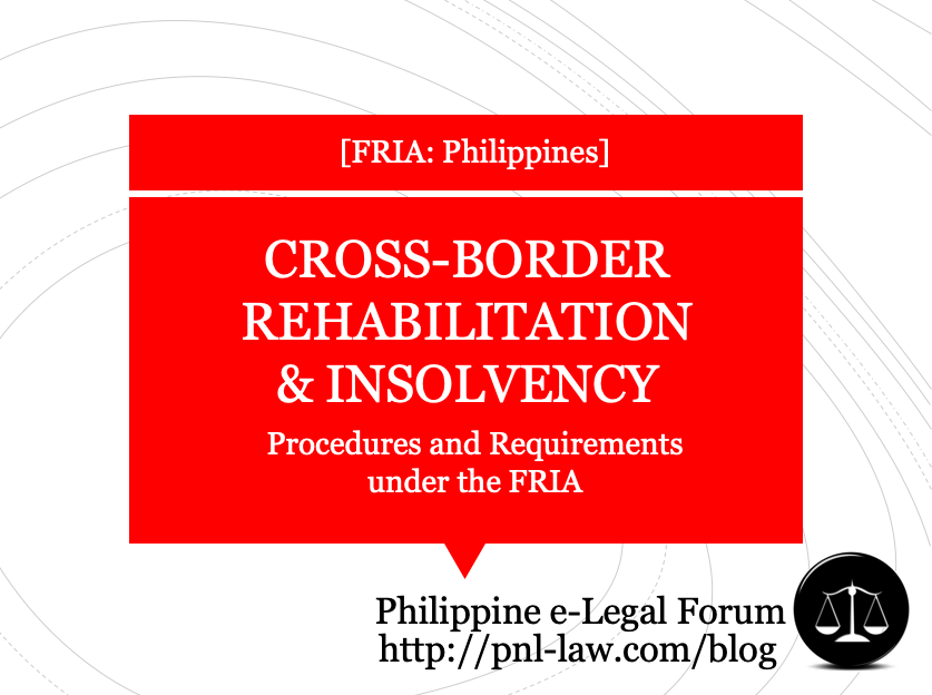 Cross-Border Proceedings under the Financial Rehabilitation and Insolvency Act