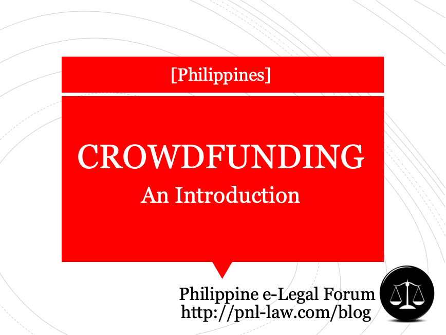 Introduction to Crowdfunding in the Philippines
