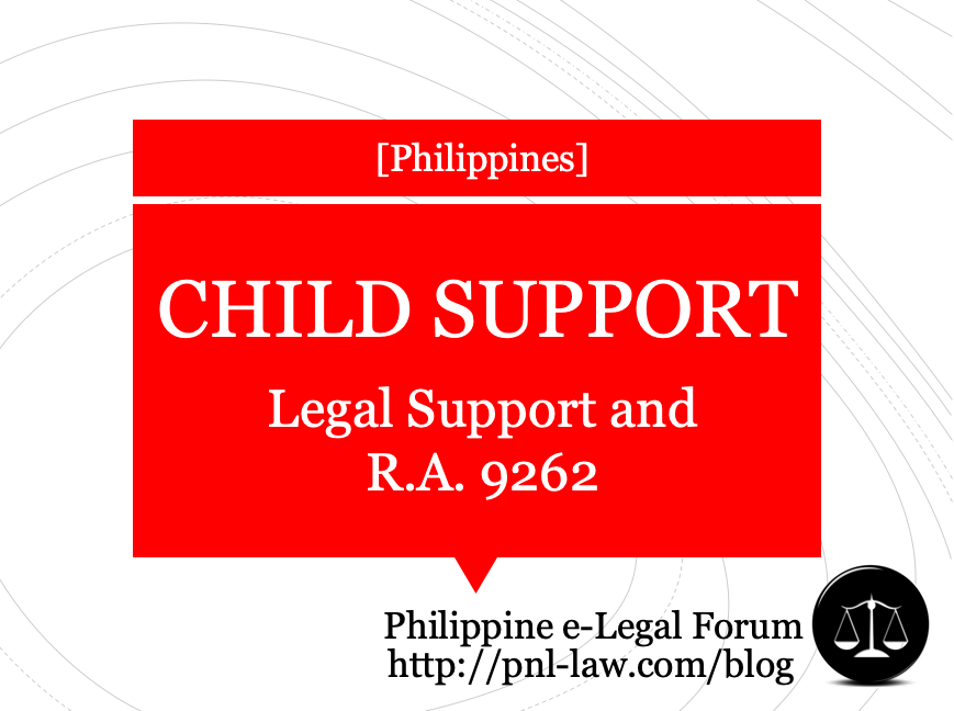 Legal Support for Children and Republic Act 9262