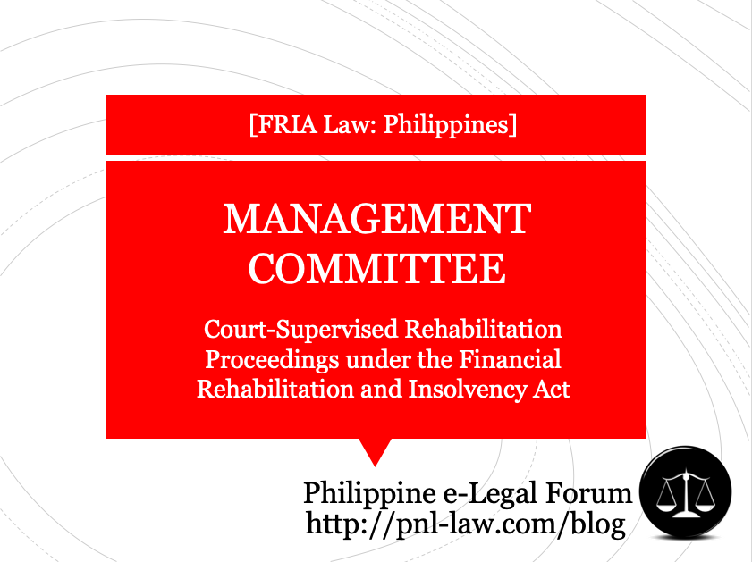 Management Committee in Court-Supervised Rehabilitation Proceedings under the Financial Rehabilitation and Insolvency Act