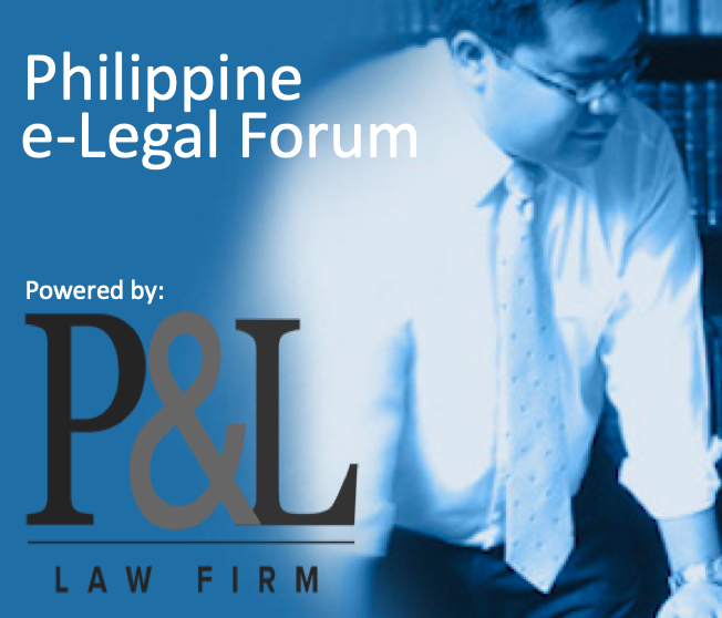 Philippine e-Legal Forum powered by P&L Law Firm