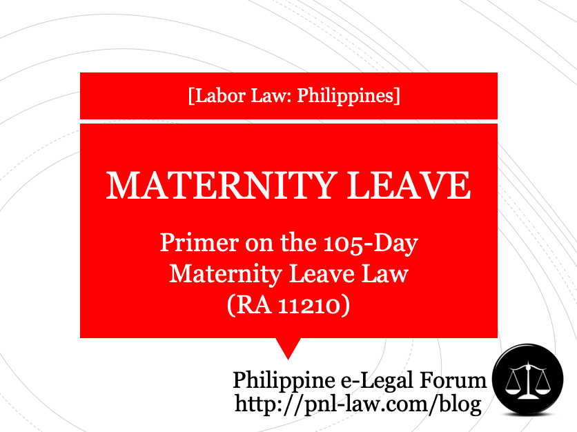 Primer on the 105-Day Maternity Leave Law in the Philippines