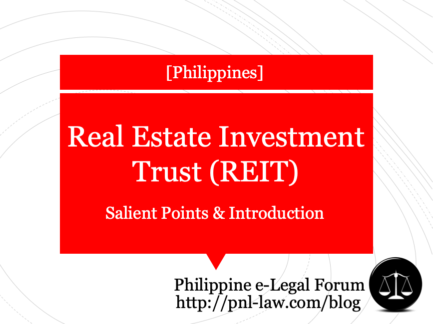 Real Estate Investment Trust (REIT) in the Philippines