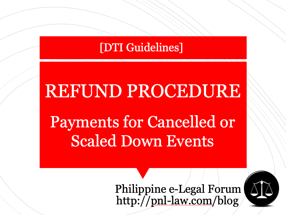 Refund Procedure for Cancelled or Scaled Down Events during Community Quarantine