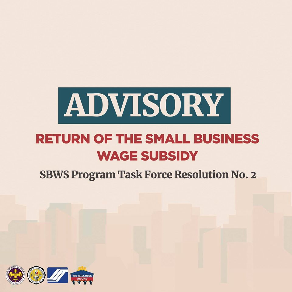 Refund / Return of the Small Business Wage Subsidy (SBWS) Amounts
