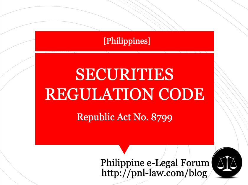 Securities Regulation Code (Republic Act 8799) of the Philippines