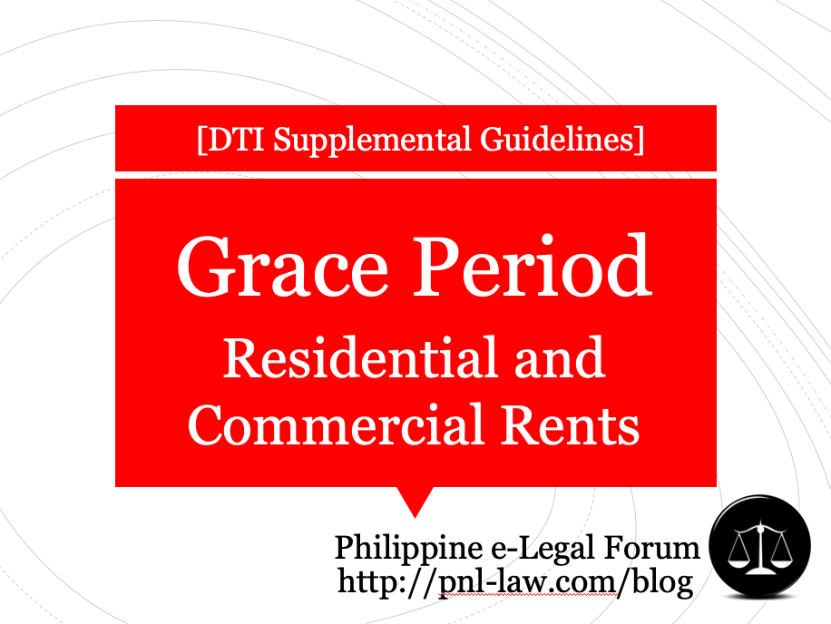 Supplemental Guidelines for 30-day Grace Period for Residential and Commercial Rents