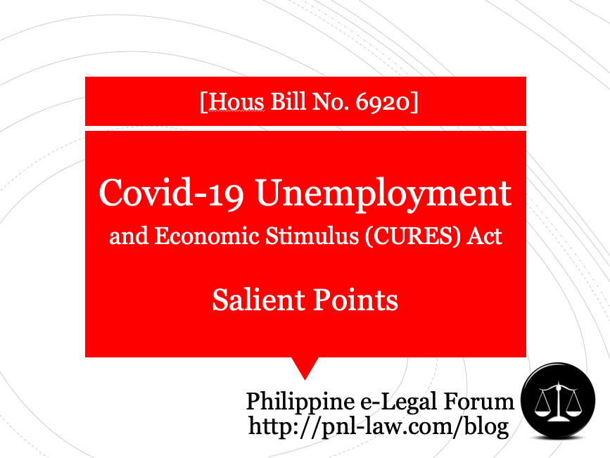The Covid-19 Unemployment Reduction Economic Stimulus (CURES) Act of 2020