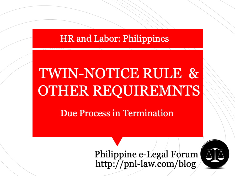 Twin Notice Rule and Procedural Requirements in Employment Termination Philippines